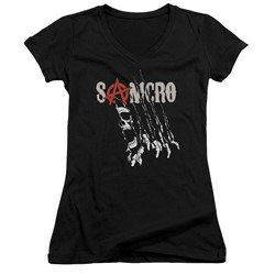 Sons Of Anarchy - Womens Rip Through V-Neck T-Shirt