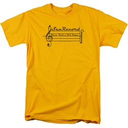 Sun Records - Mens Music Staff T-Shirt