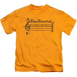 Sun Records - Little Boys Music Staff T-Shirt