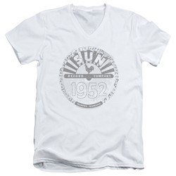 Sun Records - Mens Crusty Logo V-Neck T-Shirt