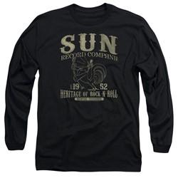 Sun Records - Mens Rockabilly Bird Long Sleeve T-Shirt