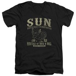 Sun Records - Mens Rockabilly Bird V-Neck T-Shirt