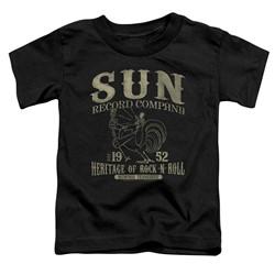 Sun Records - Toddlers Rockabilly Bird T-Shirt
