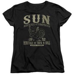 Sun Records - Womens Rockabilly Bird T-Shirt