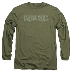 Falling Skies - Mens Distressed Logo Long Sleeve T-Shirt