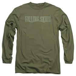 Falling Skies - Mens Distressed Logo Long Sleeve T-Shirt