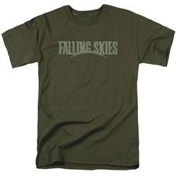 Falling Skies - Mens Distressed Logo T-Shirt