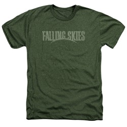 Falling Skies - Mens Distressed Logo Heather T-Shirt