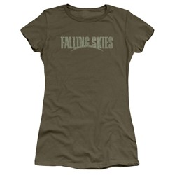 Falling Skies - Womens Distressed Logo T-Shirt