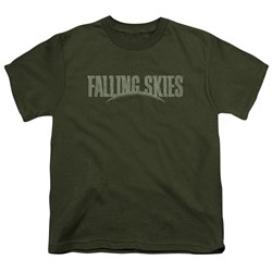 Falling Skies - Big Boys Distressed Logo T-Shirt