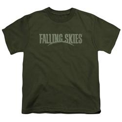 Falling Skies - Big Boys Distressed Logo T-Shirt