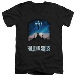 Falling Skies - Mens Main Players V-Neck T-Shirt