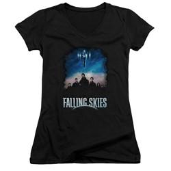Falling Skies - Womens Main Players V-Neck T-Shirt