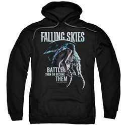 Falling Skies - Mens Battle Or Become Pullover Hoodie