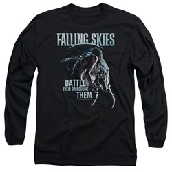 Falling Skies - Mens Battle Or Become Long Sleeve T-Shirt
