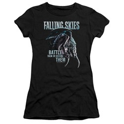 Falling Skies - Womens Battle Or Become T-Shirt