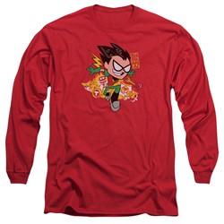 Teen Titans Go - Mens Robin Long Sleeve T-Shirt