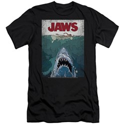Jaws - Mens Lined Poster Slim Fit T-Shirt