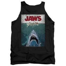 Jaws - Mens Lined Poster Tank Top