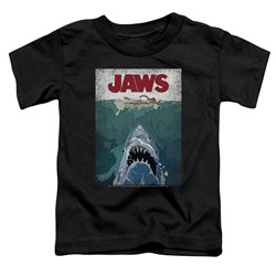 Jaws - Toddlers Lined Poster T-Shirt