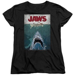 Jaws - Womens Lined Poster T-Shirt