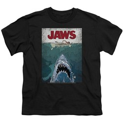 Jaws - Big Boys Lined Poster T-Shirt