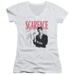 Scarface - Womens Stairway V-Neck T-Shirt