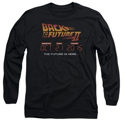 Back To The Future Ii - Mens Future Is Here Long Sleeve T-Shirt