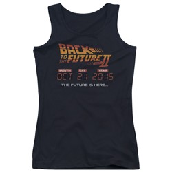 Back To The Future Ii - Juniors Future Is Here Tank Top