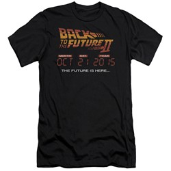 Back To The Future Ii - Mens Future Is Here Slim Fit T-Shirt