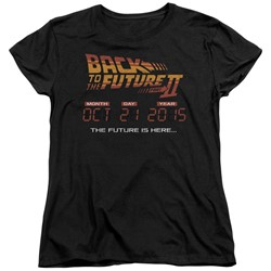 Back To The Future Ii - Womens Future Is Here T-Shirt