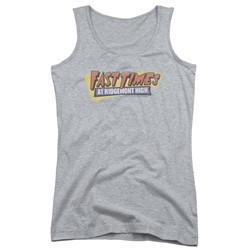 Fast Times Ridgemont High - Juniors Distressed Logo Tank Top