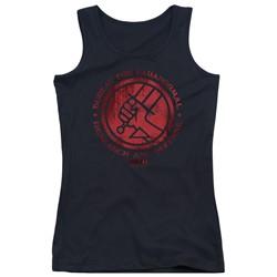 Hellboy Ii - Juniors Bprd Logo Tank Top