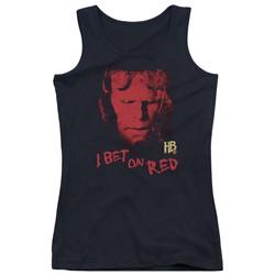 Hellboy Ii - Juniors I Bet On Red Tank Top