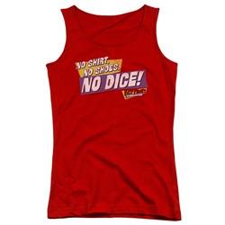 Fast Times Ridgemont High - Juniors No Dice Tank Top