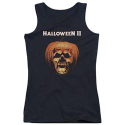 Halloween Ii - Juniors Pumpkin Shell Tank Top
