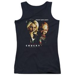 Bride Of Chucky - Juniors Chucky Gets Lucky Tank Top