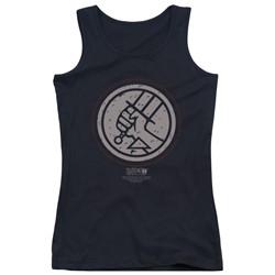 Hellboy Ii - Juniors Mignola Style Logo Tank Top