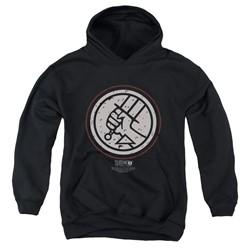 Hellboy Ii - Youth Mignola Style Logo Pullover Hoodie