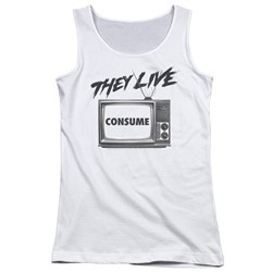They Live - Juniors Consume Tank Top