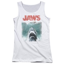 Jaws - Juniors Vintage Poster Tank Top