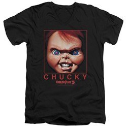 Child's Play - Mens Chucky Squared V-Neck T-Shirt