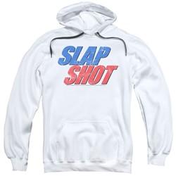 Slap Shot - Mens Blue & Red Logo Pullover Hoodie