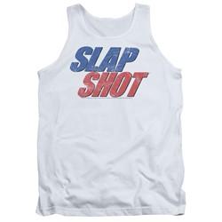 Slap Shot - Mens Blue & Red Logo Tank Top