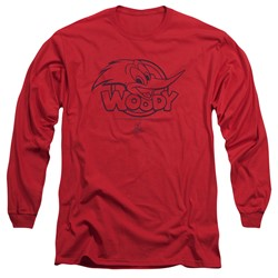 Woody Woodpecker - Mens Big Head Long Sleeve T-Shirt