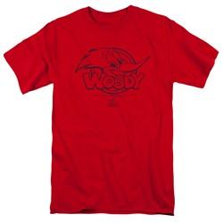 Woody Woodpecker - Mens Big Head T-Shirt