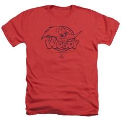 Woody Woodpecker - Mens Big Head Heather T-Shirt