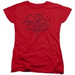Woody Woodpecker - Womens Big Head T-Shirt
