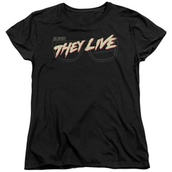 They Live - Womens Glasses Logo T-Shirt