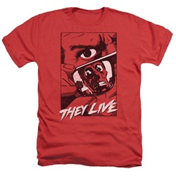 They Live - Mens Graphic Poster Heather T-Shirt